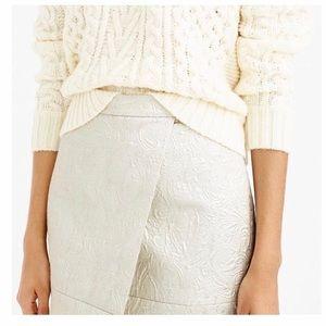 J Crew Silver Paisley Printed Mini Skirt